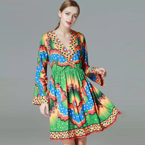 Spring Summer fun bold print dress
