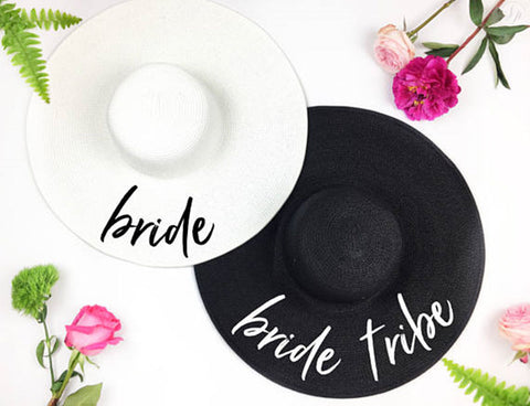 Bride Tribe beach wedding floppy Hat Summer wedding bridal tribe party gifts favors