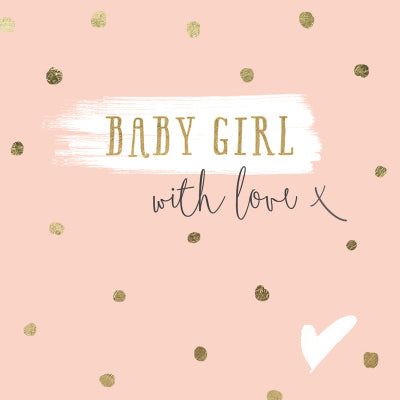 Baby Girl With Love Gift Card | Oak Home Living