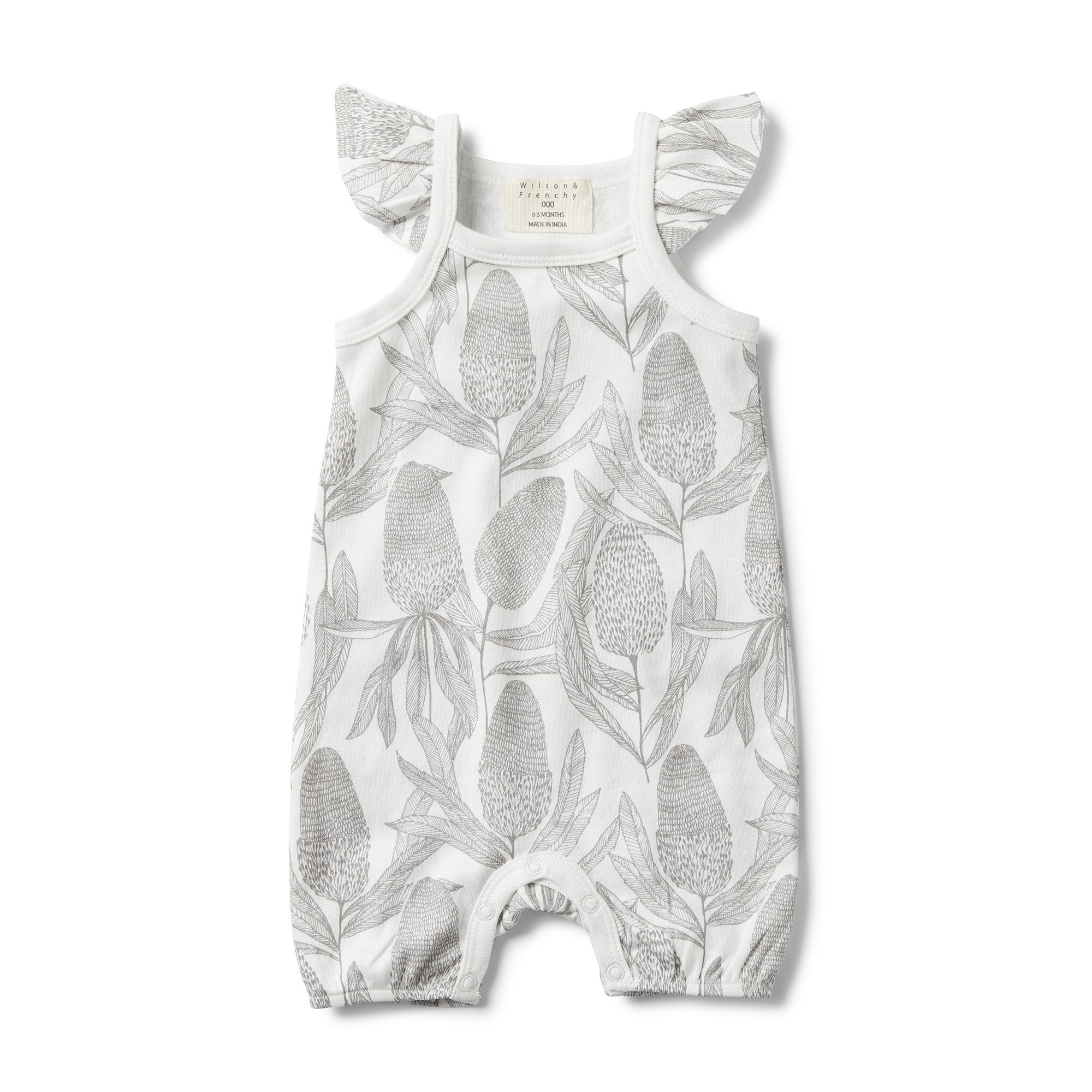 Banksia Ruffle Sleeve Playsuit | Oak Home Living | Wilson & Frenchy