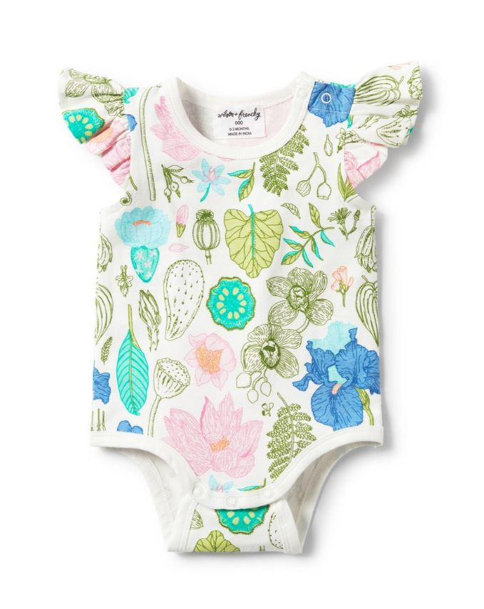 Flora Flutter Sleeve Body Suit | Wilson & Frenchy