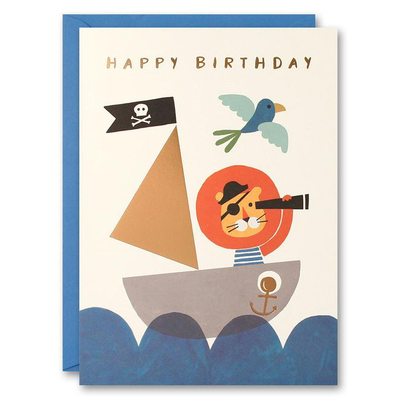 Ahoy There Lion Birthday Card | Oak Home Living