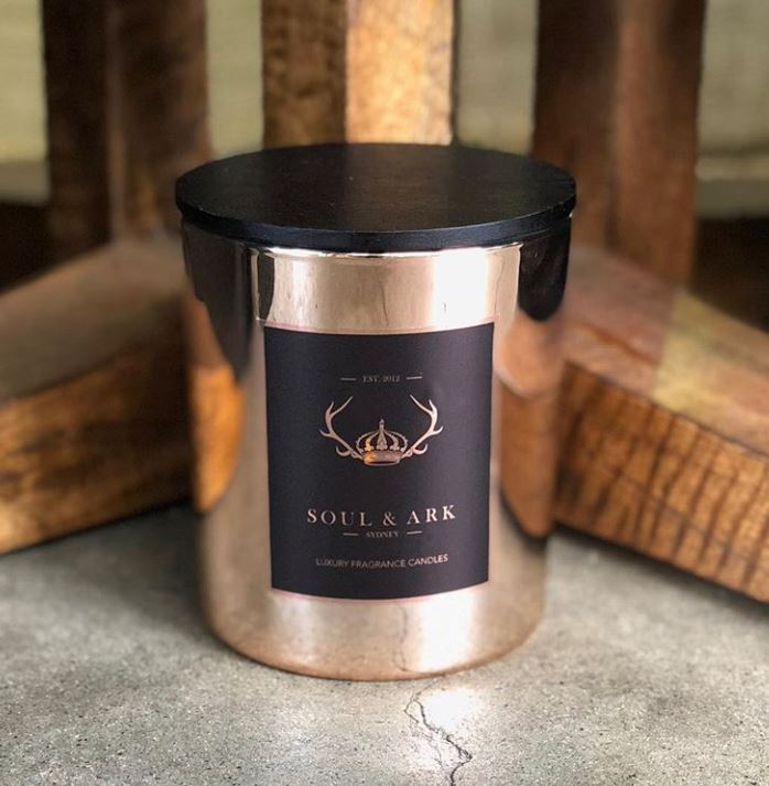 Pink Champagne Luxury Soy Candle | Soul & Ark | Oak Home Living