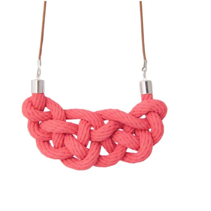 Celtic Knot Necklace | Raspberry
