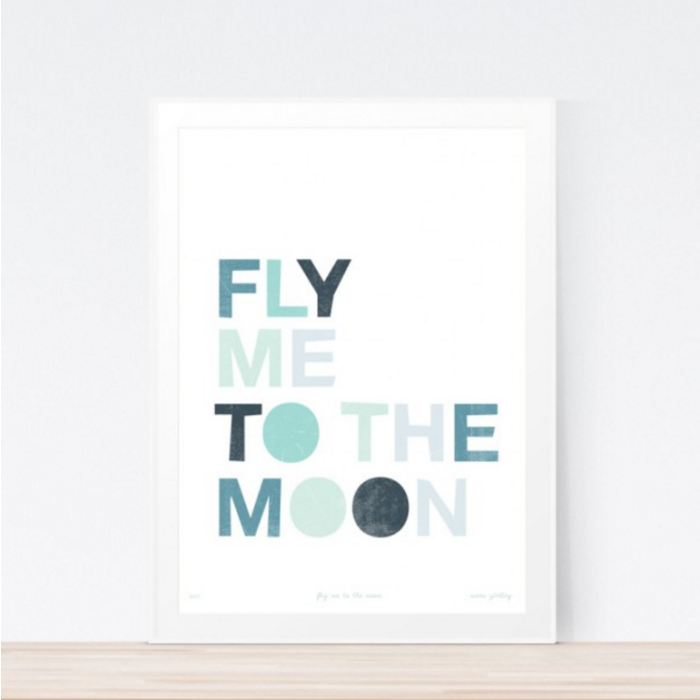 Fly Me To The Moon Art Print Childrens Wall