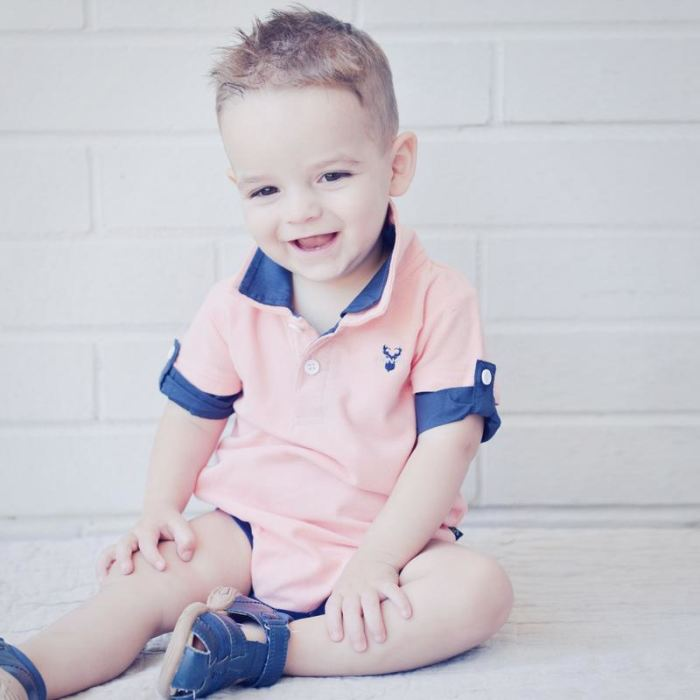 Hamptons Austie Romper Light Salmon | Love Henry Boys