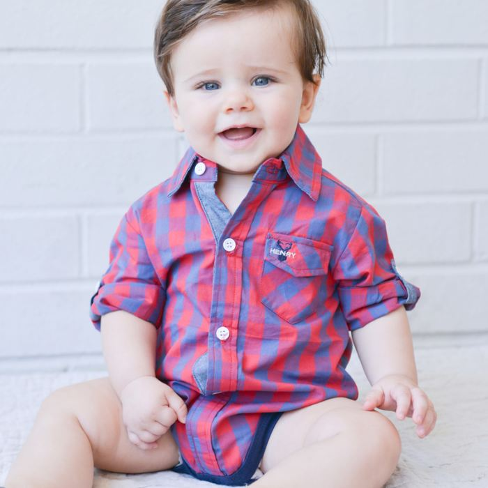 Hamptons  Remy Check Romper | Love Henry