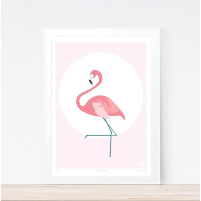 Little Flamingo Art Print Childrens Wall