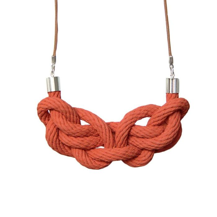 Paris Knot Necklace | Terracotta