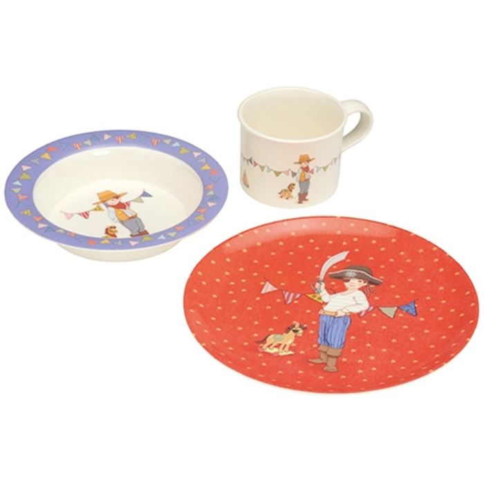 Pirates Ahoy | 3 Piece Eat Set Childrens Homewares