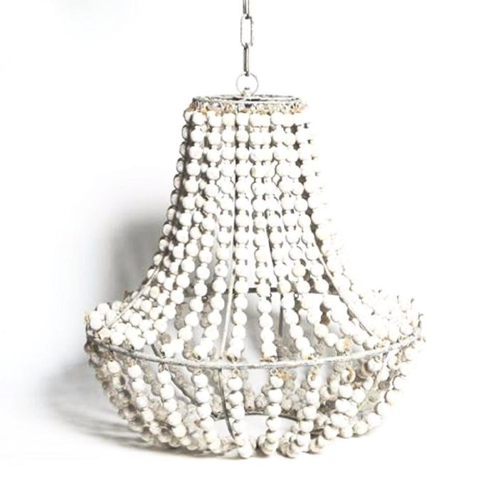 Whitewash Ball Chandelier