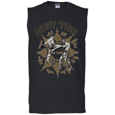 Cotton Sleeveless Tee - 2 Fighters