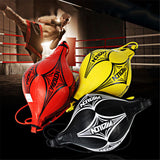 Muay Thai Double End Leather Boxing Training Speed Ball