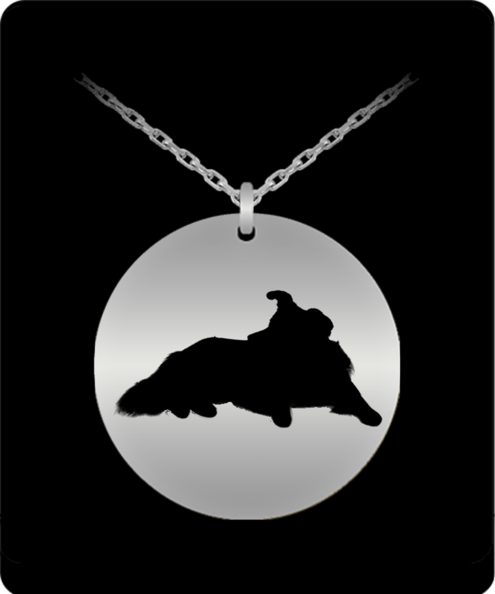 Border Collie - 18K Surfaced and Stainless Steel Laser Engraved 20 Inch Necklace