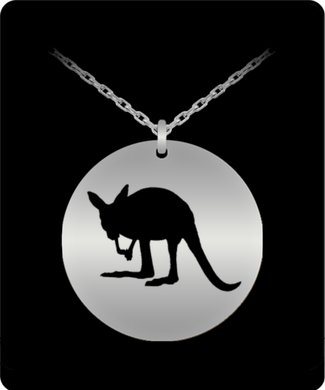 Love Kangaroos This Necklace is for YOU Stainless Steel 20 inch