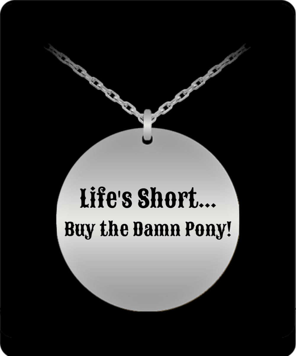 Life is Short ... Buy the Damn Pony - 20 Inch SS Necklace