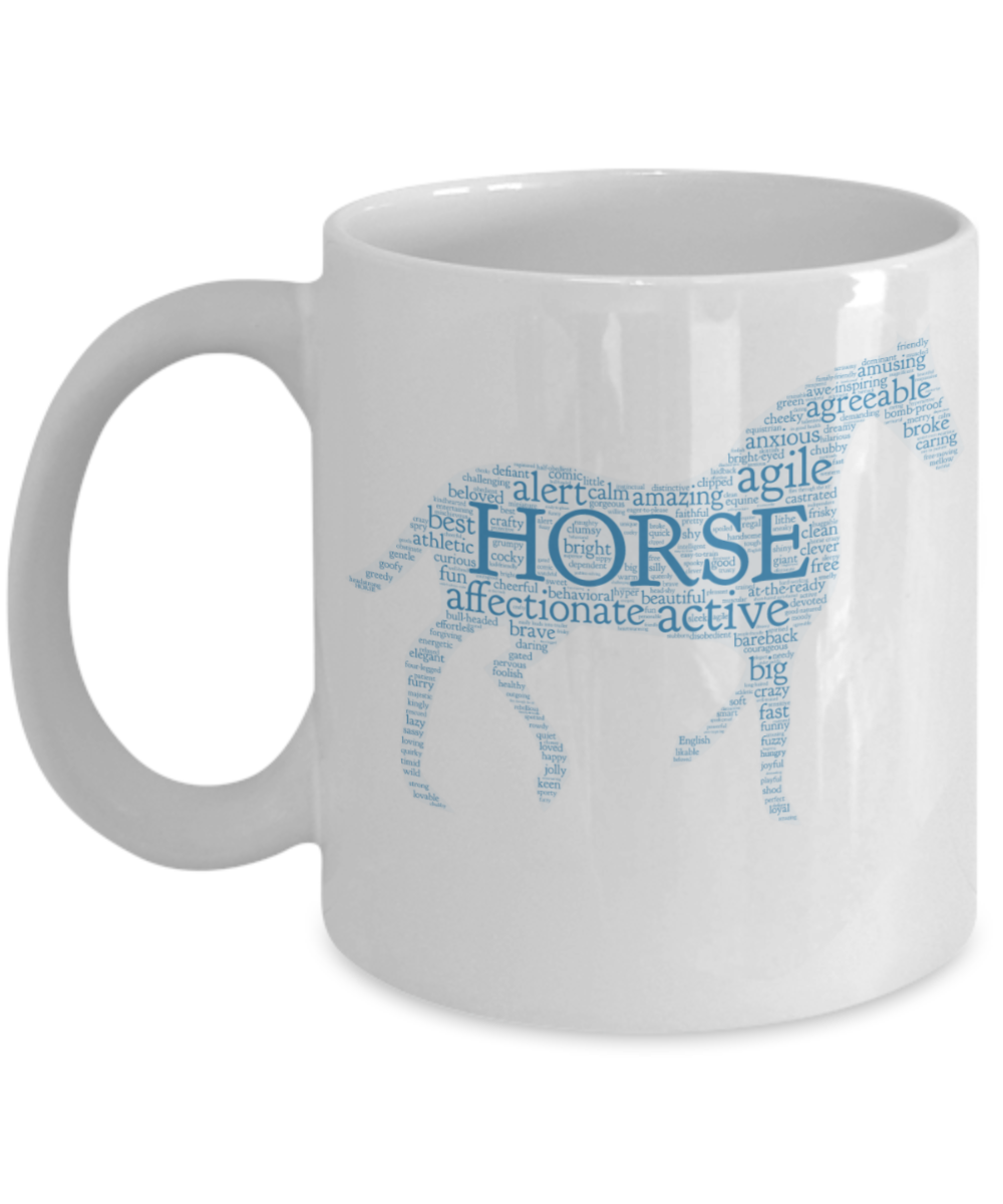 Horse Words - Word Art Coffee Mug