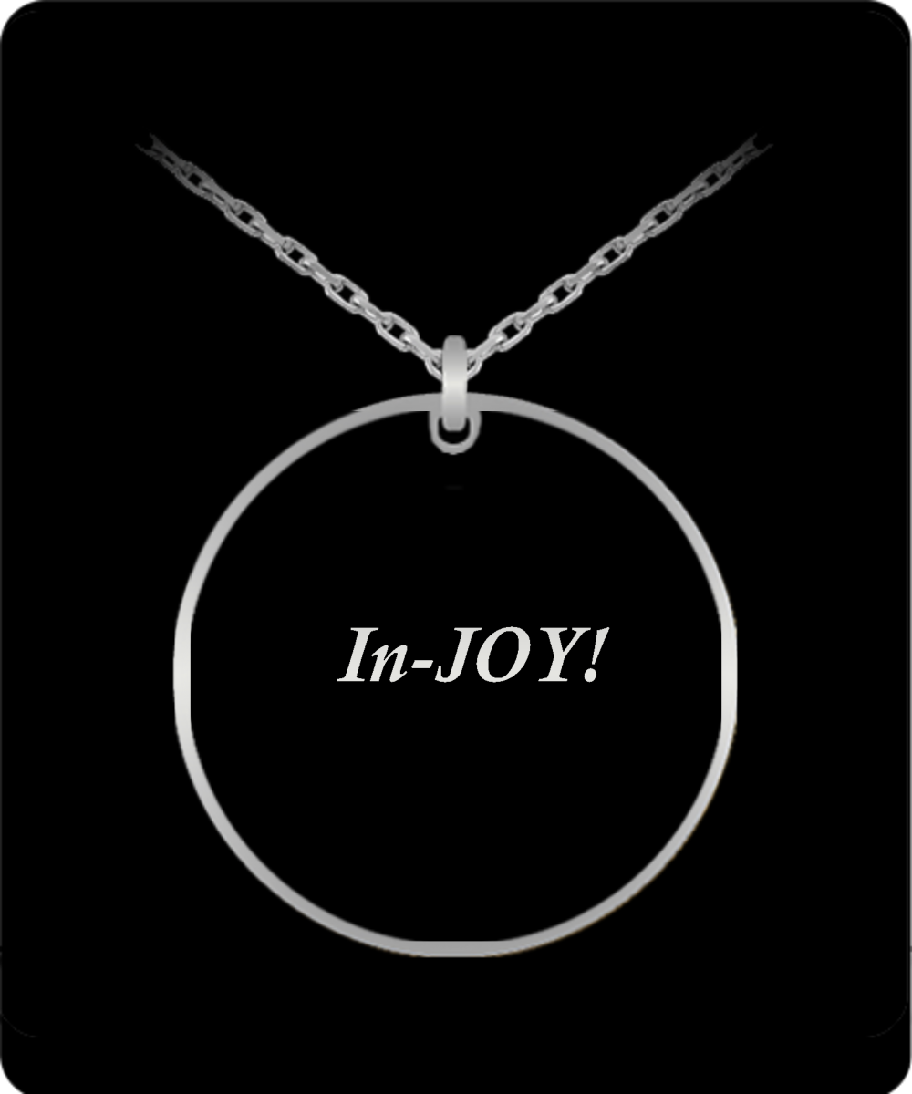 InJOY Stainless Steel Laser Engraved Necklace 20 inch chain