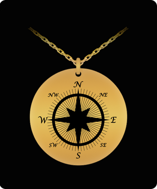 Compass Necklace - Never Be Lost Without Them - Gift with 20 Inch Chain