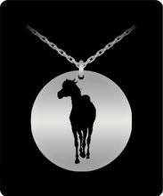 Horse Coming At YOU - Laser Engraved 20 Inch Necklace