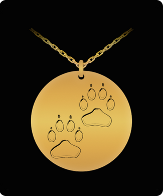 Dog Prints for the Dog Lover in Your Life - Necklace Gold or Silver 20 Inch Chain