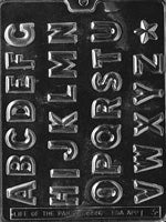 Chocolate Mold- Alphabet Letters