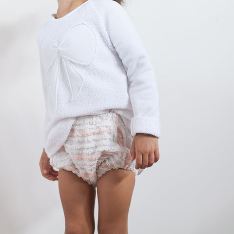 high waisted bloomers / shorties - ivory + coral | Tyger Alexis