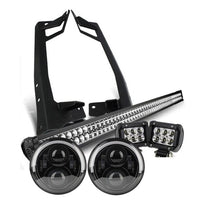 Jeep Wrangler JK LED Headlights & Lightbar Package