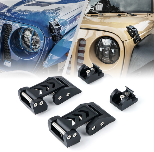 Aluminum Hood Latch Kit for Jeep Wrangler JL & JLU and JT Gladiator