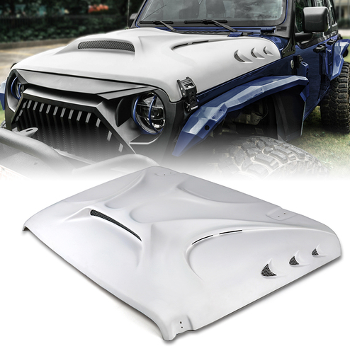 The Beast Fiberglass Hood for Jeep Wrangler JL & JLU and JT Gladiator