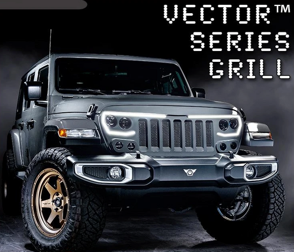 VECTOR SERIES FULL LED GRILL - JEEP WRANGLER JL and GLADIATOR JT