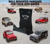Wall Mount Door Storage Hangers for 1956-2020 Jeep Wrangler & Jeep Gladiator