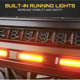 JL & JLU Black Venom Grille with Amber LED Running Lights