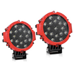 Titan Offroad - 7 Inch Round Red LED Pods