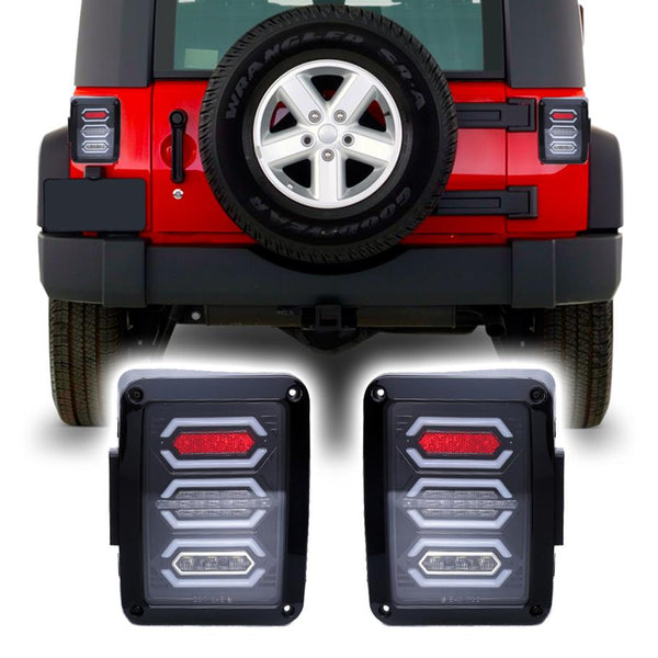 Jeep Wrangler JK & JKU Diamond LED Tail Lights (2007-2018)