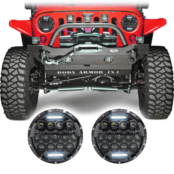 Jeep Wrangler JK & JKU Honeycomb LED Headlights (2007-2018)
