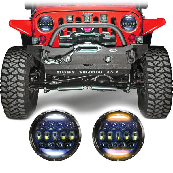 Jeep Wrangler JK & JKU Super Nova LED Headlights (2007-2018)