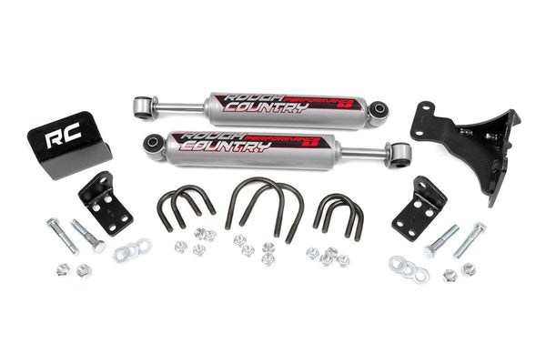 Rough Country - 2.2 DUAL STEERING STABILIZER