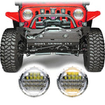 Jeep Wrangler Honeycomb V2 Chrome LED Headlights (1997-2018+)