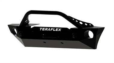 TeraFlex - Epic Front Bumper with Hoop Kit, Offset Drum Winch
