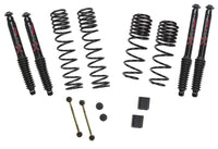 Skyjacker 1-1.5 in. Dual Rate-Long Travel Lift Kit System with Black MAX Shocks For Jeep Wrangler (JL-JLU 2018+) - JL15BPBLT