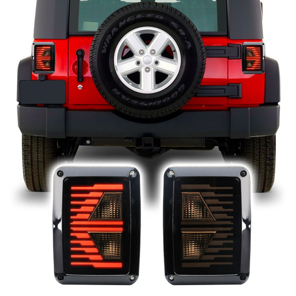 Jeep Wrangler Vapor LED Tail Lights (2007-2018)