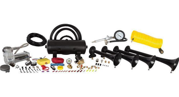 HornBlasters - Conductor Special 238A Train Horn Kit w- Coil Hose And Tire Inflation Gun