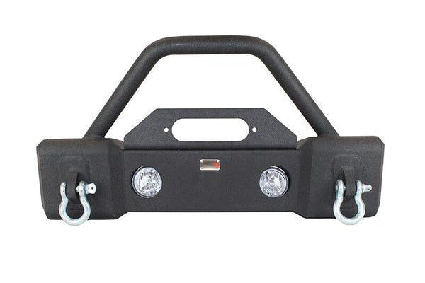 Fishbone Offroad - Front Stubby Winch Bumper with Tube Hoop