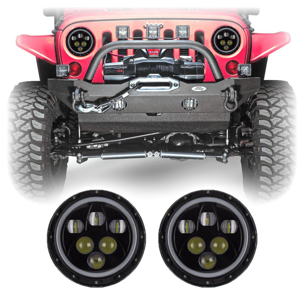 Jeep Wrangler Alien Halo LED Headlights (1997-2018+)