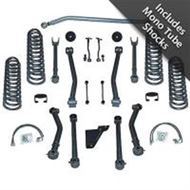 Rubicon Express - 4.5 Inch Super-Flex Suspension Lift Kit with Shocks for JK-JKU (2007-2018)