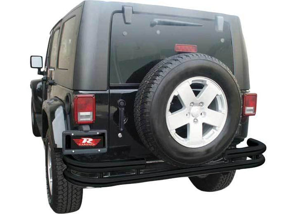 Rampage Double Tube Rear Bumper For Jeep Wrangler (JK-JKU 2007-2018) - 86648