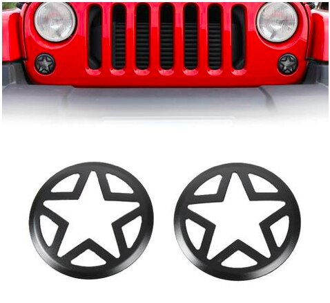 Star Turn Signal Light Covers Guards JK