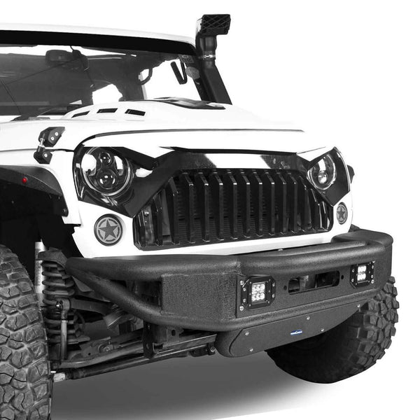 Rock Crawler Tube Front Bumper For Jeep Wrangler (JK-JKU 2007-2018)