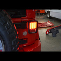 RECON - Clear Lens Scanning OLED Bar-Style LED Taillights For Jeep Wrangler (JK-JKU 2007-2018)